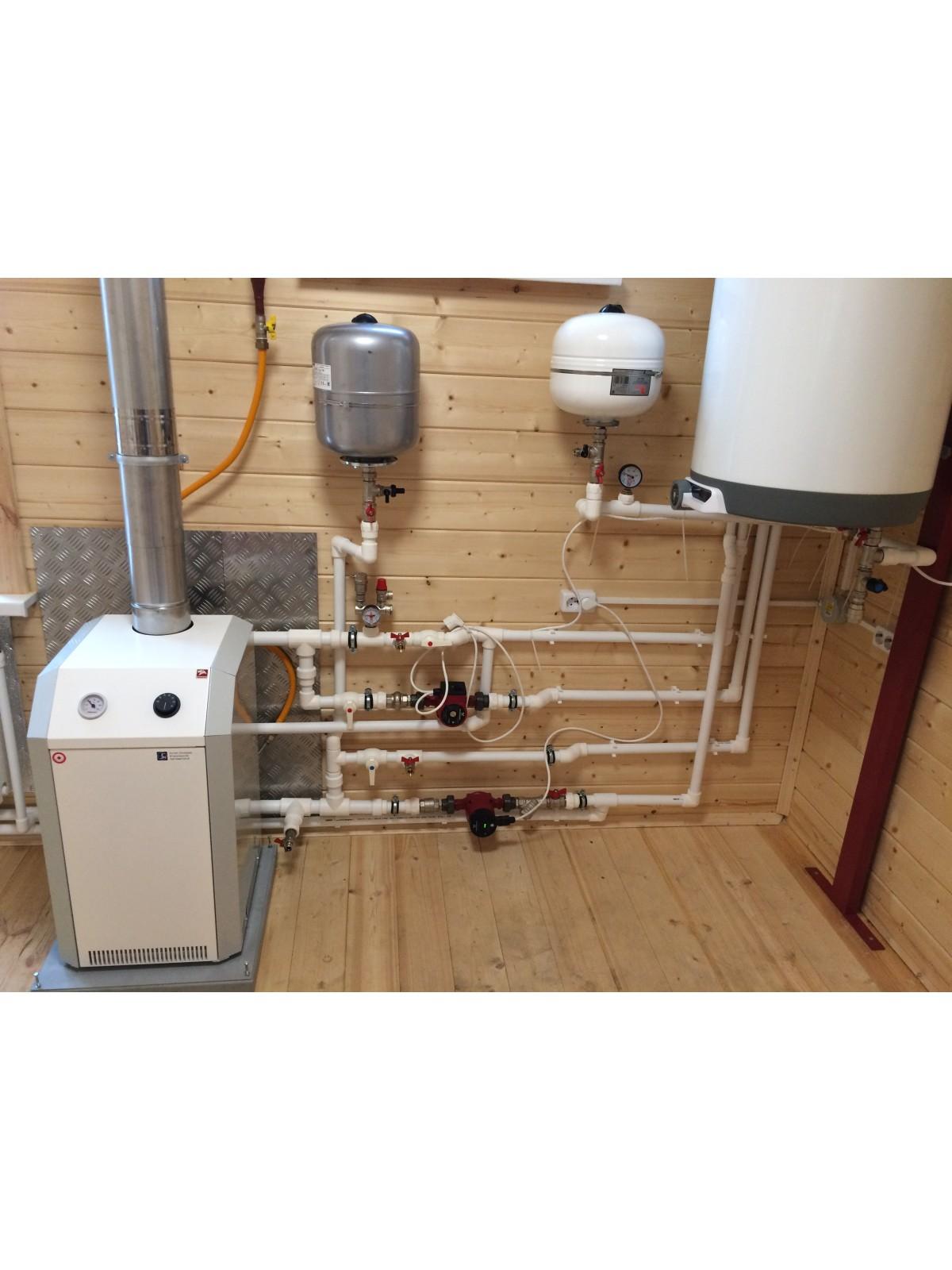 Монтаж системы отопления п. Тярлево