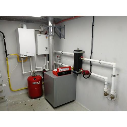 Монтаж системы отопления с тремя котлами СНТ Спорт
