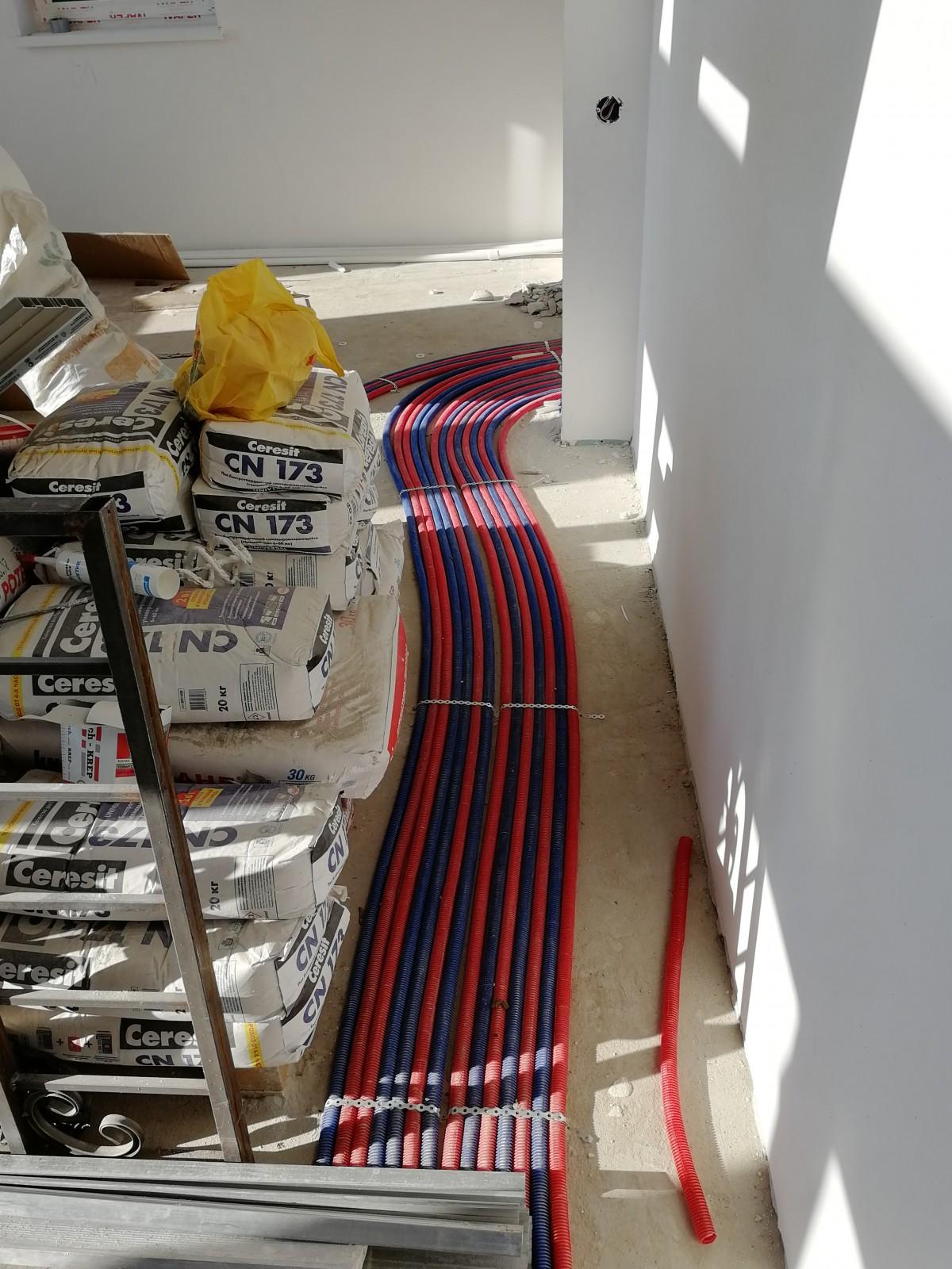 Монтаж системы отопления, ГВС, ХВС, канализации и монтаж газгольдера в частном доме п. Назия
