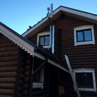 Монтаж дымохода газового котла и двух вентканалов в Санкт-Петербурге
