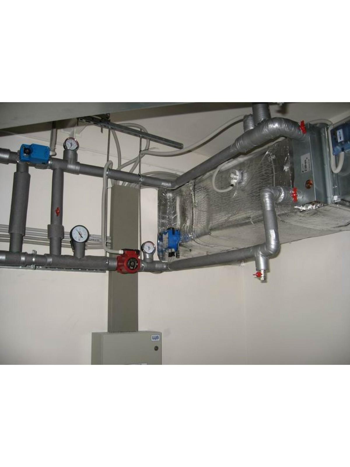Монтаж обвязки водяного нагревателя