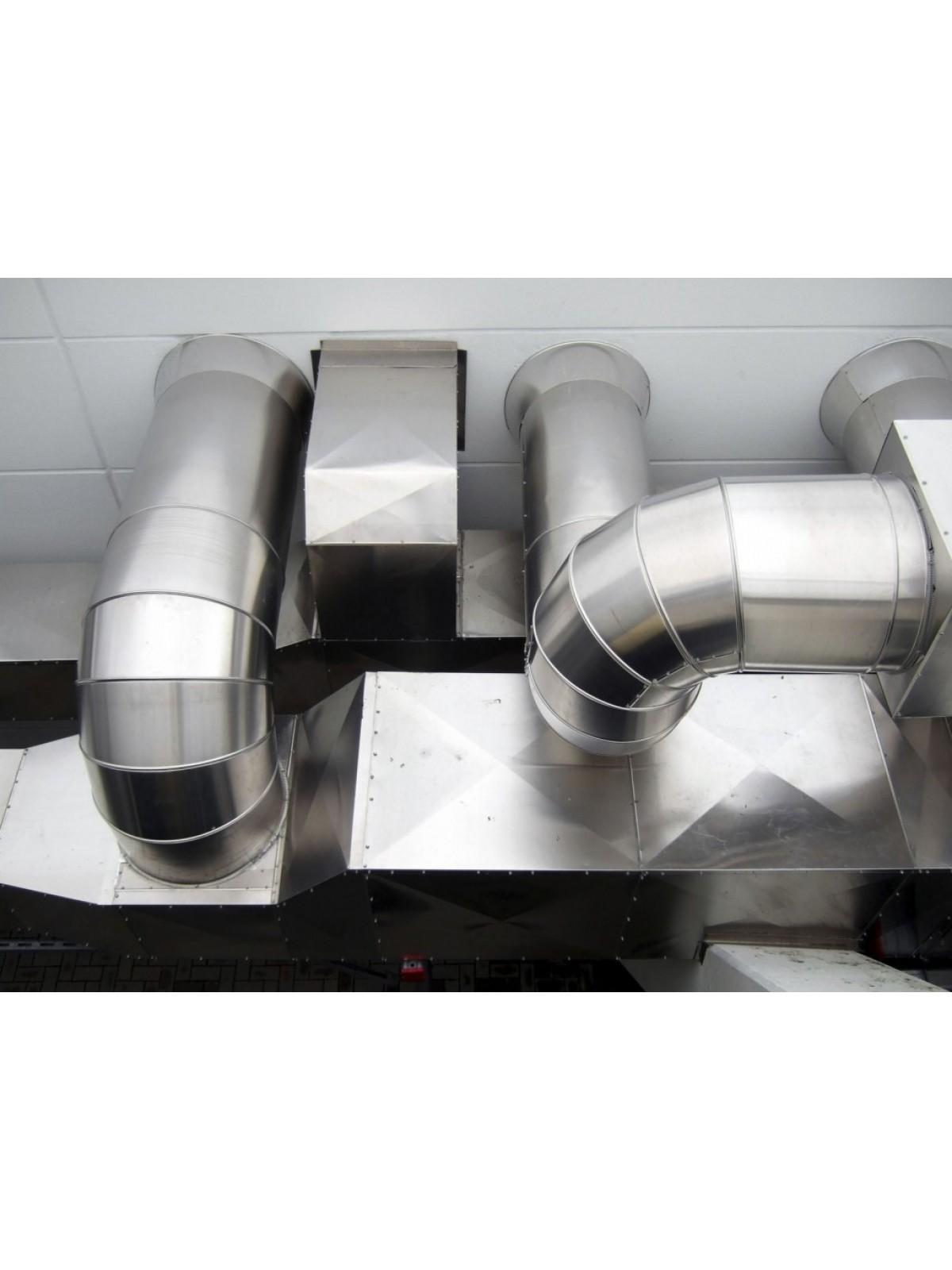 Монтаж воздуховода из оцинкованной стали