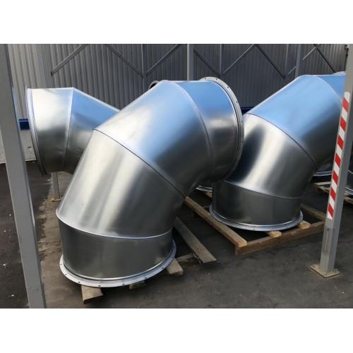 Монтаж воздуховода из черной стали сварной