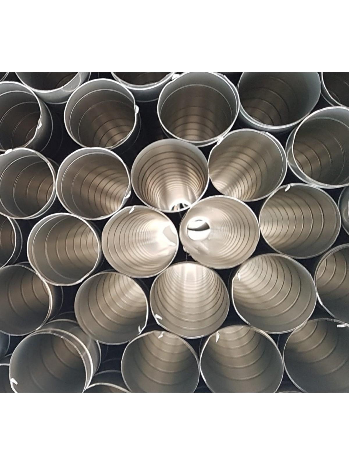 Монтаж воздуховодов оцинкованных круглых диаметром 125 мм