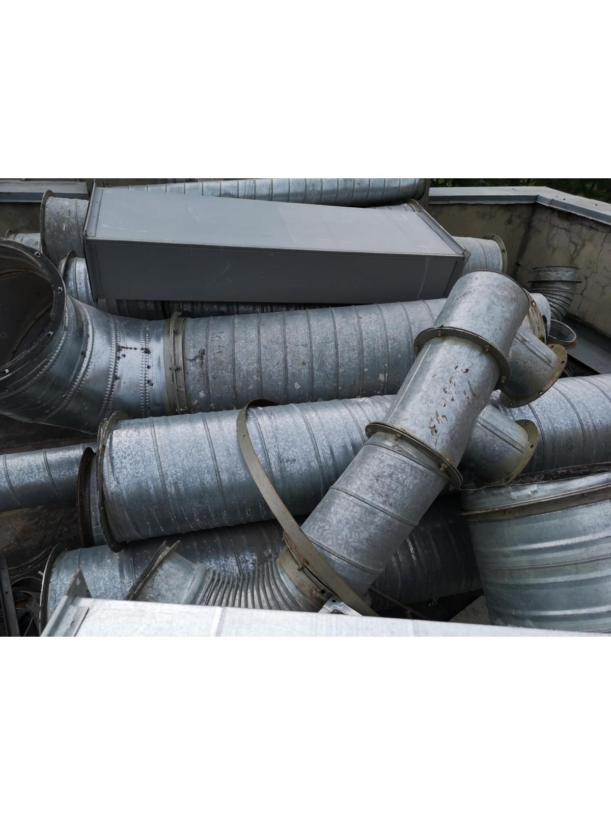 Демонтаж круглого воздуховода диаметром 250 мм