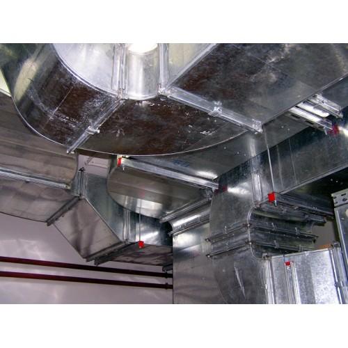 Прокладка жестких прямоугольных воздуховодов