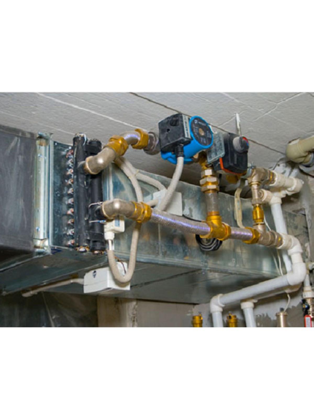Монтаж и сборка узла обвязки для водяного нагревателя