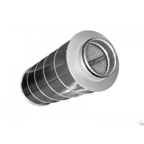 Монтаж шумоглушителя круглого сечения диаметром 100-315 мм