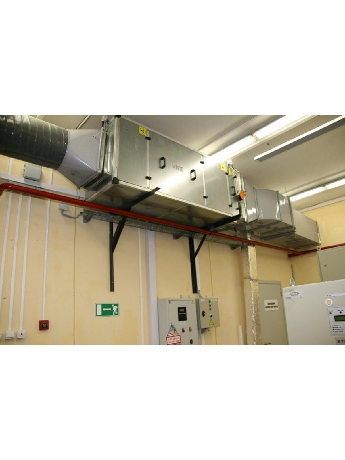 Монтаж приточных установок системы вентиляции производительностью от 300 до 700 м3/ч