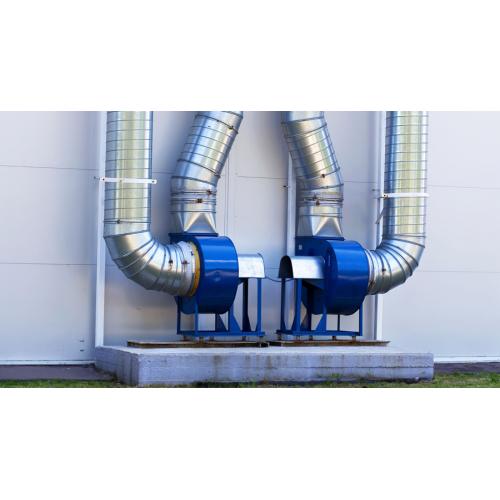 Монтаж радиального вентилятора системы вентиляции