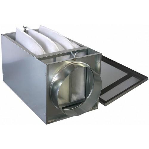 Монтаж канального фильтра карманного типа системы вентиляции