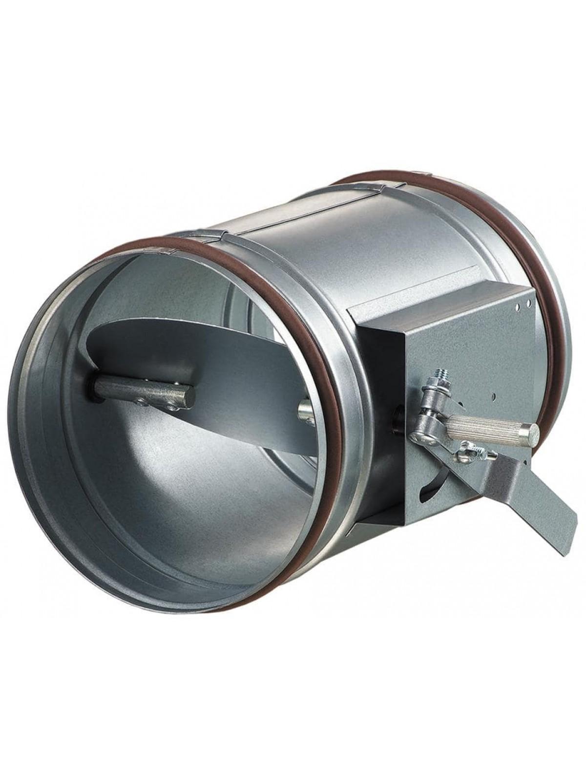 Установка дроссель-клапана круглого сечения Ø 100-315 мм