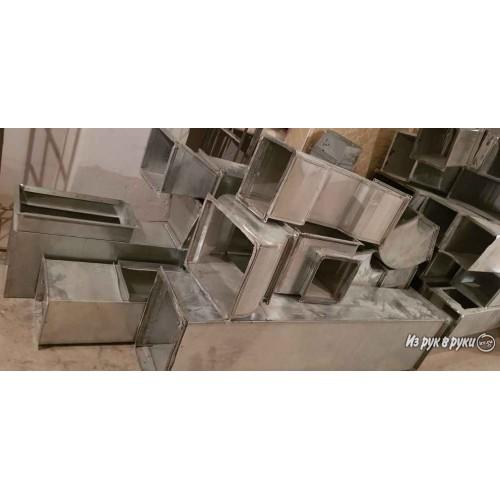 Демонтаж прямоугольного воздуховода