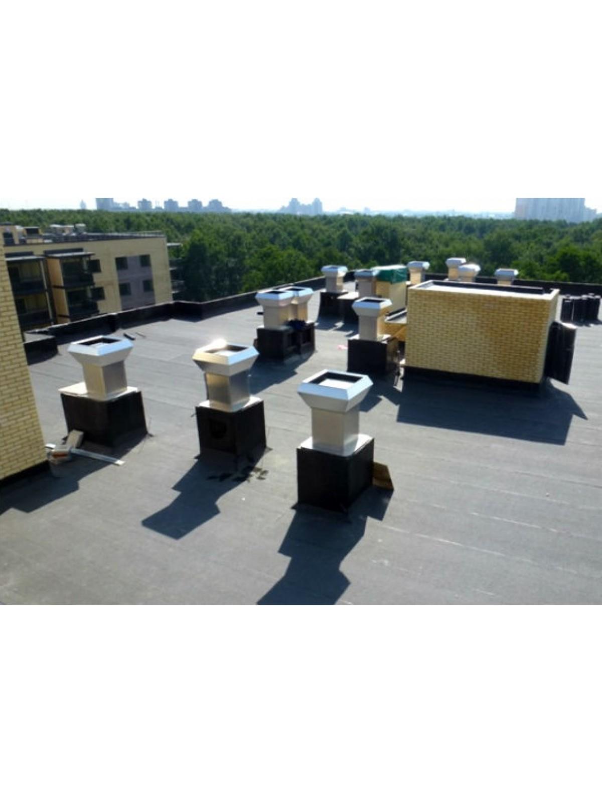 Монтаж крышного вентилятора