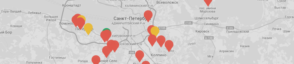 карта объектов