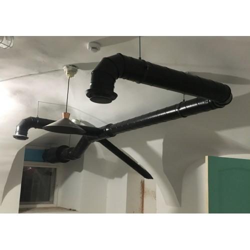 Монтаж  локальной вытяжной вентиляции