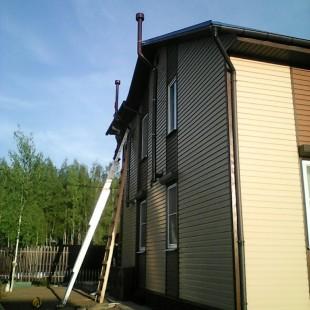 Монтаж двух естественных вентиляционных каналов